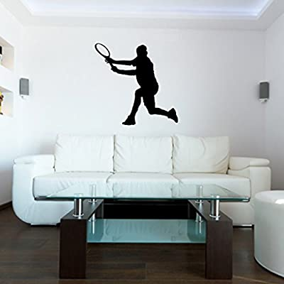 Tennis Wall Decal Sticker 24 - Decal Stickers and Mural for Kids Boys Girls Room and Bedroom. Tennis Sport Wall Art for Home Decor and Decoration - Tennis Silhouette Mural