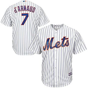 Travis D'Arnaud New York Mets Men's Majestic Home Cool Base Player Jersey (X