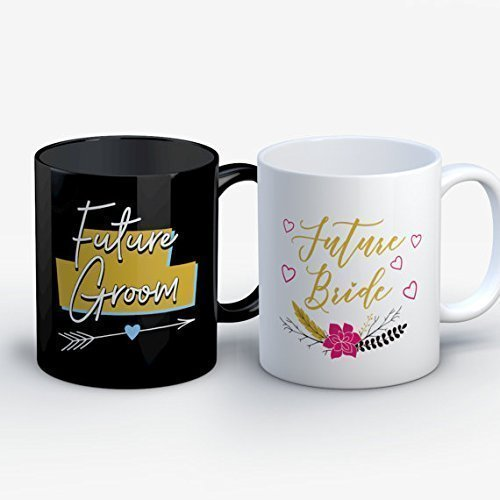 Funny Couples Mugs - Engaged Mug for BFF - Future Mrs Gifts - Cute Couples Coffee Mug Set - Engagement Gifts - Future Groom / Future Bride