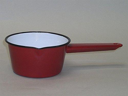 Falcon Enamel - (1, Red) - Falcon Enamel Sauce Gravy Soup Milk Pan 14cm Red