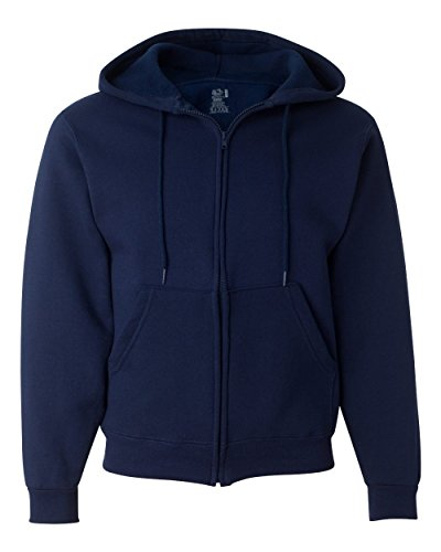 - Fruit of the Loom Best Collection™ Men's Fleece Full Zip Hood Medium JNAVY/CHARCOAL HEATHER