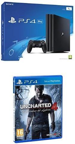 PlayStation 4 Pro (PS4) - Consola de 1 TB + Uncharted 4: El Desenlace Del Ladrón: Amazon.es: Videojuegos