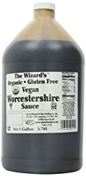 The Wizard\'s Sauces, Organic Gluten-Free Vegan Worcestershire Sauce, Food Service Size, 128-Ounce