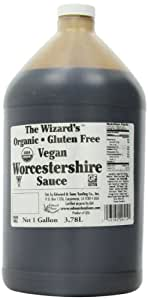 The Wizard's Sauces, Organic Gluten-Free Vegan Worcestershire Sauce, Food Service Size, 128-Ounce