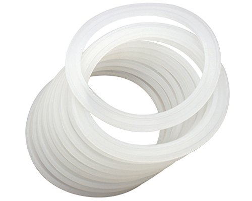 Platinum Silicone Sealing Rings Gaskets for Leak Proof Mason Jar Lids (10 Pack, Wide Mouth) ()