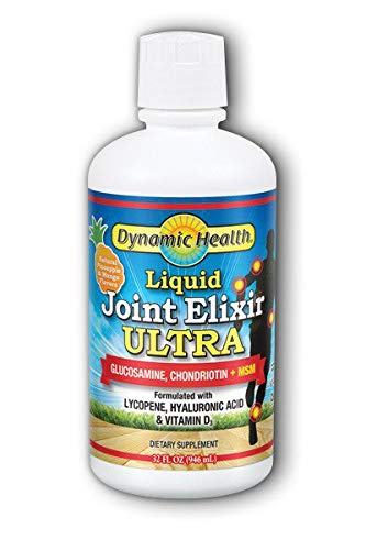 Dynamic Health Liquid Joint Elixir with MSM Supplement, Pineapple and Mango, 32 Ounce