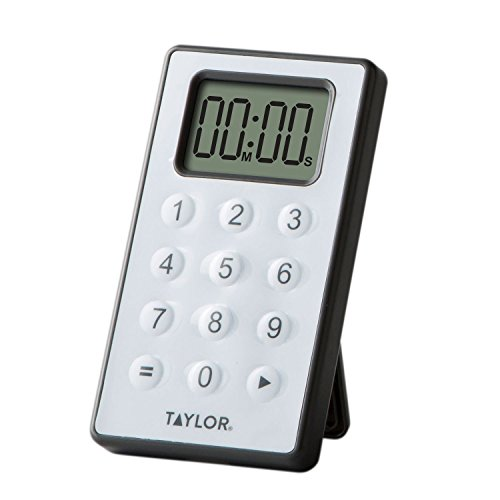Taylor Digital 10 Key Timer, Silver