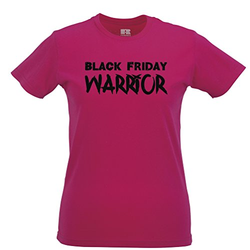 Black Friday Warriors Stampato Slogan Citazione Design Qualità Premium T-Shirt da Donna