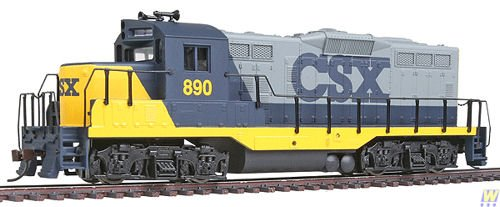 Walthers - Trainline® Diesel EMD GP9M Ready to Run -- CSX (blue, gray, yellow) - HO -