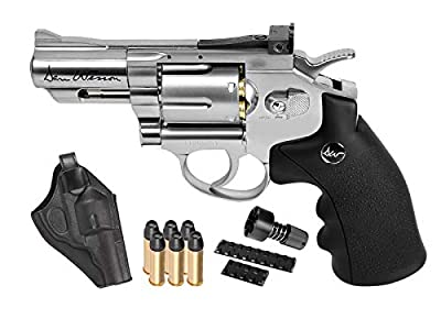 "Dan Wesson 2.5"" CO2 Pellet Revolver Kit, Silver air pistol"