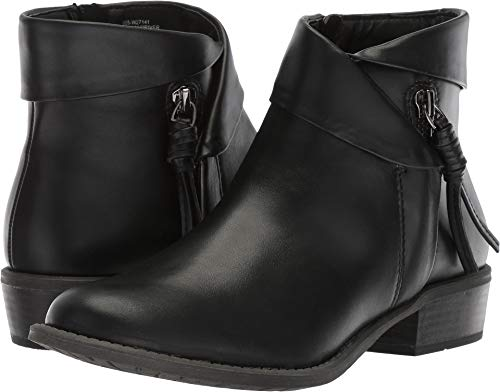 Womens Mountain Boot Ankle - WHITE MOUNTAIN Women's Driver Ankle Boot, Black/Smooth, 8.5 M US