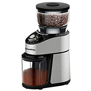 Stainless Steel Conical Burr Coffee Grinder, Automatic Electric Mill Coffee Grinder with 12 Ground Size, Cup Selection for Home, Office,Kitchen