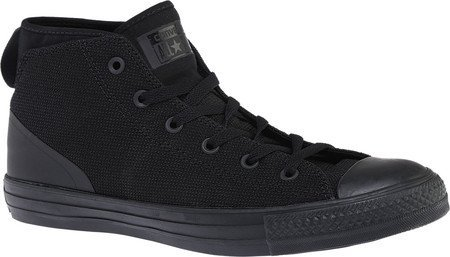 Converse Unisex Chuck Taylor All Star Syde Street Mid Fashion Sneaker Shoe, Black/Black/Black (3.5)