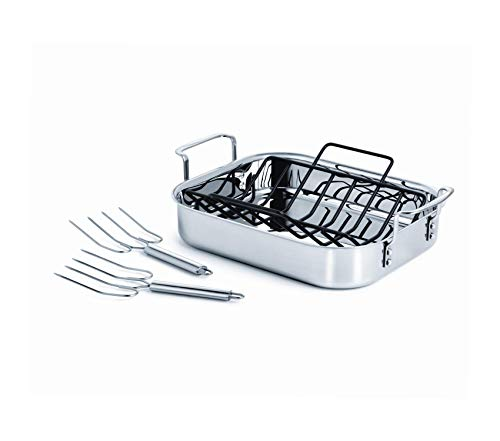 Premium Tri-Ply Stainless Steel Cookware, Roaster, 14-inch