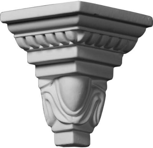 Ekena Millwork MOC03X04ED-CASE-4 Outside Corner for Moulding MLD04X03X05ED (4-Pack) 3 1/4P x 4 1/2H White