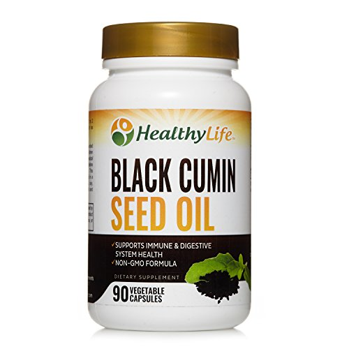 Black Seed Oil by HealthyLife | 90 Vegetable Capsules | Up to 3 Months Supply | Contains 500mg Nigella Sativa | Non GMO Formula Review