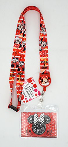 Minnie Mouse Lanyard (Disney 85792 Minnie Mouse Lanyard with Zip Lock Card Holder,)