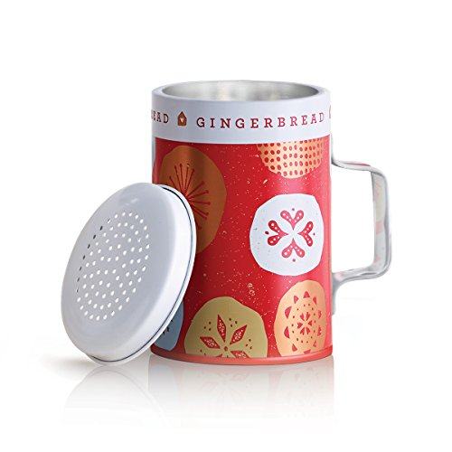 - Thymes - Fragrant Gingerbread Wax Candle in Decorated Tin Shaker, 50-Hour Burn Time - 7.5 Ounces
