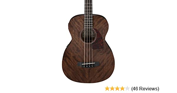 Amazon com: Ibanez PCBE12MHOPN 4-String Acoustic Bass Guitar