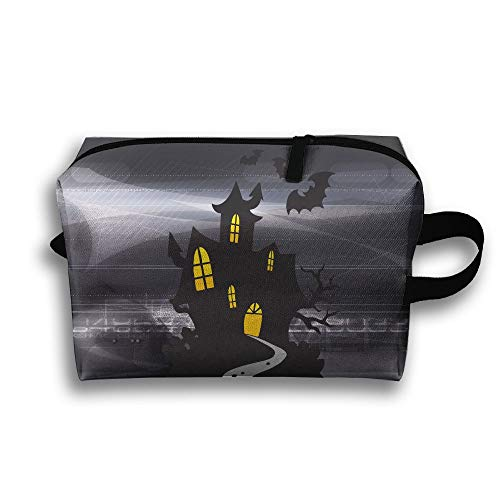 SUNGTER Creepy Halloween Travel Cosmetic Bag for Women Or Girls