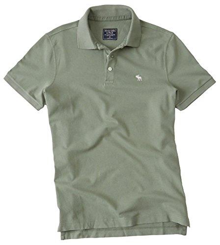 Abercrombie Mens Stretch Icon Polo Shirt Tee  Size Xxl  Olive  627470137