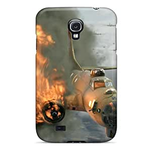 For Galaxy S4 Premium Tpu Case Cover Red Tails Devastation Protective Case