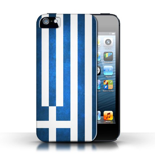 Etui / Coque pour Apple iPhone 5/5S / Grèce/Grec conception / Collection de Drapeau