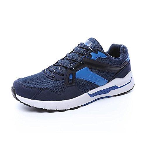 Jiuyue-shoes, Estate/Autunno 2018 Scarpe da ginnastica sportive da donna con tacco alto traspirante per donna e uomo (Color : Blu scuro, Dimensione : 43 EU)