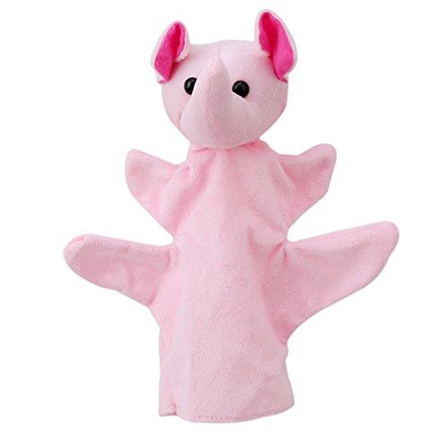 VWH Marionnettes à Main Assortiment Marionnette à Doigt Animales Peluche Doudoune Jouets Pour Enfants Bébé Poupée Éléphant