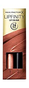 Max Factor Lipfinity Lip Colour Lipstick, 2-step Long Lasting, Stay Bronzed 4.2ml