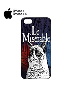 Les Le Miserable Grumpy Cat Mobile Cell Phone Case Cover iPhone 4&4s Black