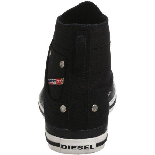 Diesel Exposure Hallo Schwarz Weiß Damen Canvas Neue-Trainer-Schuhe Stiefel