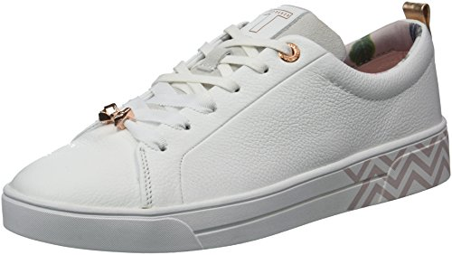 Ted Baker Women's Kellei Sneaker, White/Palace Gardens Print, 10 Medium US