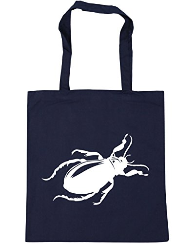 HippoWarehouse - Bolsa de playa de Algodón  Mujer azul marino