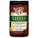 Barlean's Chocolate Silk Greens – Powder – 9.52 Ounce (Pack of 2) New Formula