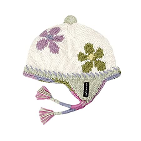 Everest Designs Girls 15004 Flower Child Earflap Hat White One Size everest-designs 15004-K