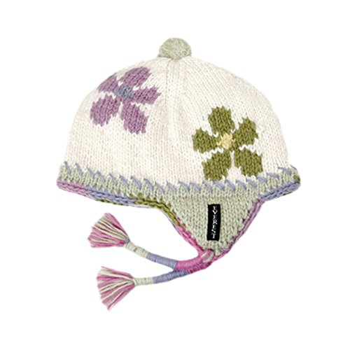 f47fc40c2 Amazon.com: Everest Designs Big Girls' Flower Child Earflap, White ...