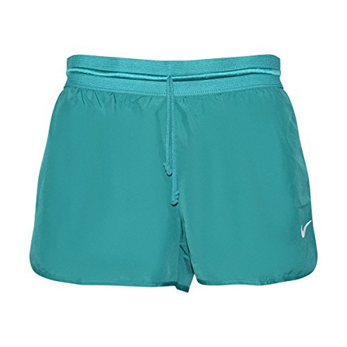 NIKE Womens Dry Tempo Dri-Fit Lined Running Shorts (Jade/Volt, X-Large)