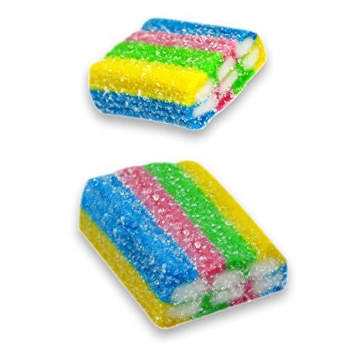(Vidal Gummy Licorice Rainbow Bricks Candy, 2.2 Lb)