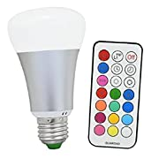 Amazon Lightning Deal 92% claimed: Minger RGBW LED Bulb,10W E26 Cold White(5000K) Color Changing Light Bulb with IR Remote Control,RGB+W Dimmable Light Bulbs (1-Pack)