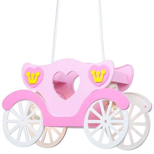 Kinder Deckenleuchte Mädchen Hängeleuchte rosa Prinzessinnenkutsche Globo 15724