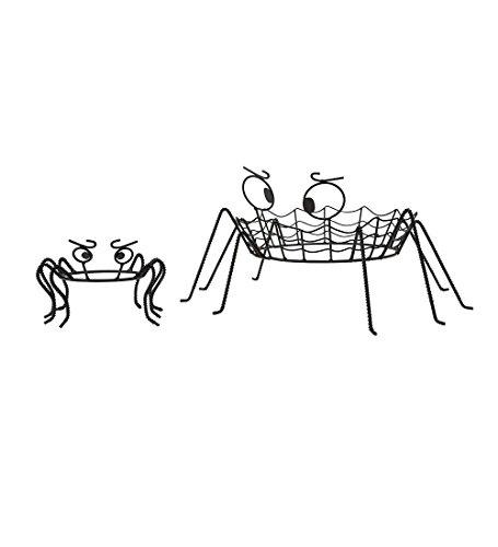 Halloween Pumpkin Stand - Spooky Spider Pumpkin Holders, set of 2
