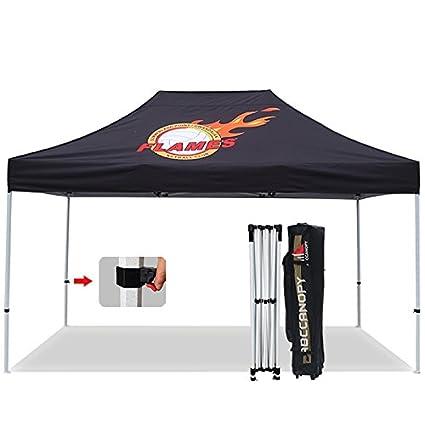 abccanopy pro 40 custom pop up tents 10x15 pop up canopy with custom graphics bonus - Custom Pop Up Tents