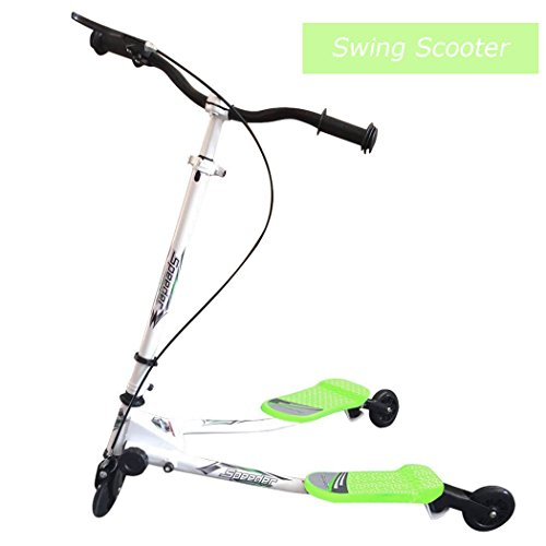 Y Flicker Scooter, 3 Wheels Foldable Tri Slider Motion Winged Drifter Push Y Wiggle Scooter for boys girls, Age 5+
