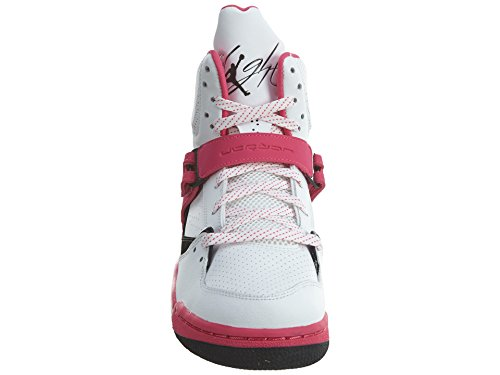 Nike Mädchen Jordan Flight 45 High IP GG Basketballschuhe Blanco (Blanco (White / Black-Vivid Pink))