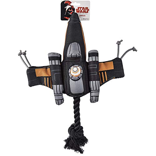 - Star Wars Poe's X-Wing Fighter Rope Dog Toy, Medium