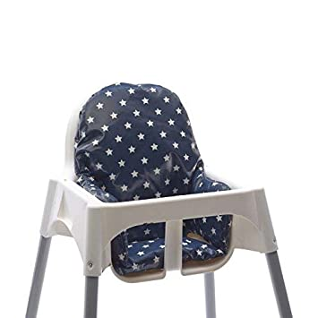 Pleasant Messy Me High Chair Insert Wipe Clean Ikea Antilop Cushion Mealtime Baby Seat Support Navy Stars Caraccident5 Cool Chair Designs And Ideas Caraccident5Info