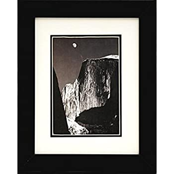buyartforless if ebn1061 8x10 glass framed moon half dome by ansel adams black white photograph art poster print 8x10 famous photographer great art