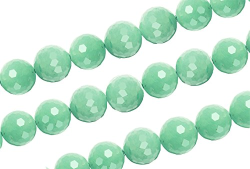 1 Strand 15 1/2 Inch 8 mm Round Aventurine Faceted Gemstone Beads
