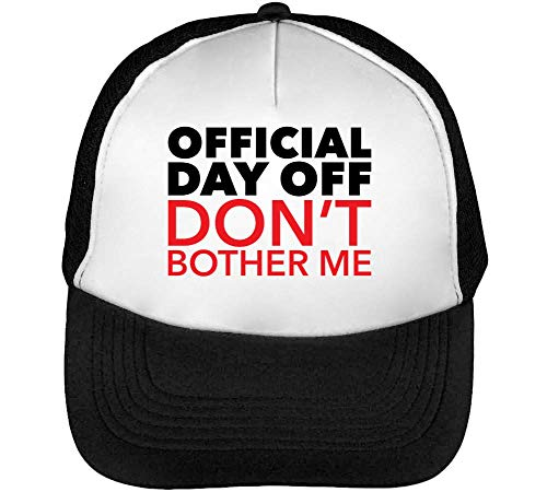 Negro Snapback Official Gorras Hombre Don'T Bother Off Blanco Beisbol Sq0ASH
